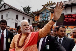 File photo of Narendra Modi during his visit to Pashupathinath Temple in Kathmandu. Credit: PTI