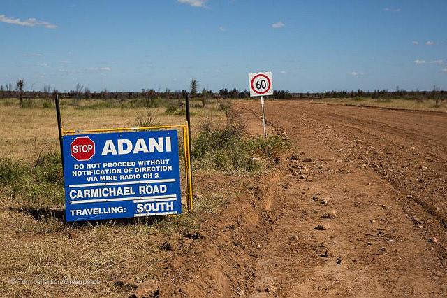 Adani's mining plans in Australia have run into trouble with local environmental groups. Credit: Greenpeace Australia-Pacific/Flickr