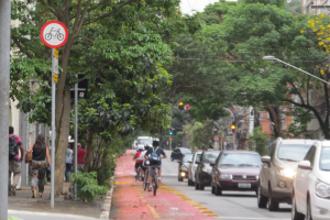 In the Sao Paulo mayor's vision, a Smart City should have equal space for pedestrians, cyclists and people with cars. Photo: Shobhan Saxena