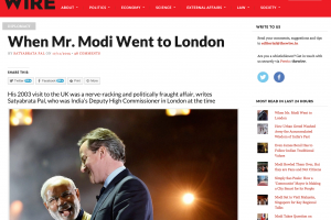 A screenshot of Satyabrata Pal's story as it appeared on The Wire website on November 19.