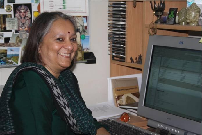 Sandhya S. Visweswariah. Source: mrdg.iisc.ernet.in