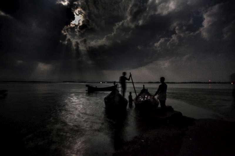People risking sea journeys across the Bay of Bengal often set sail at night