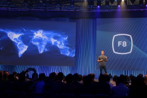 Mark Zuckerberg on stage at Facebook's F8 Developers Conference 2015. Credit: pestoverde/Flickr, CC BY 2.0