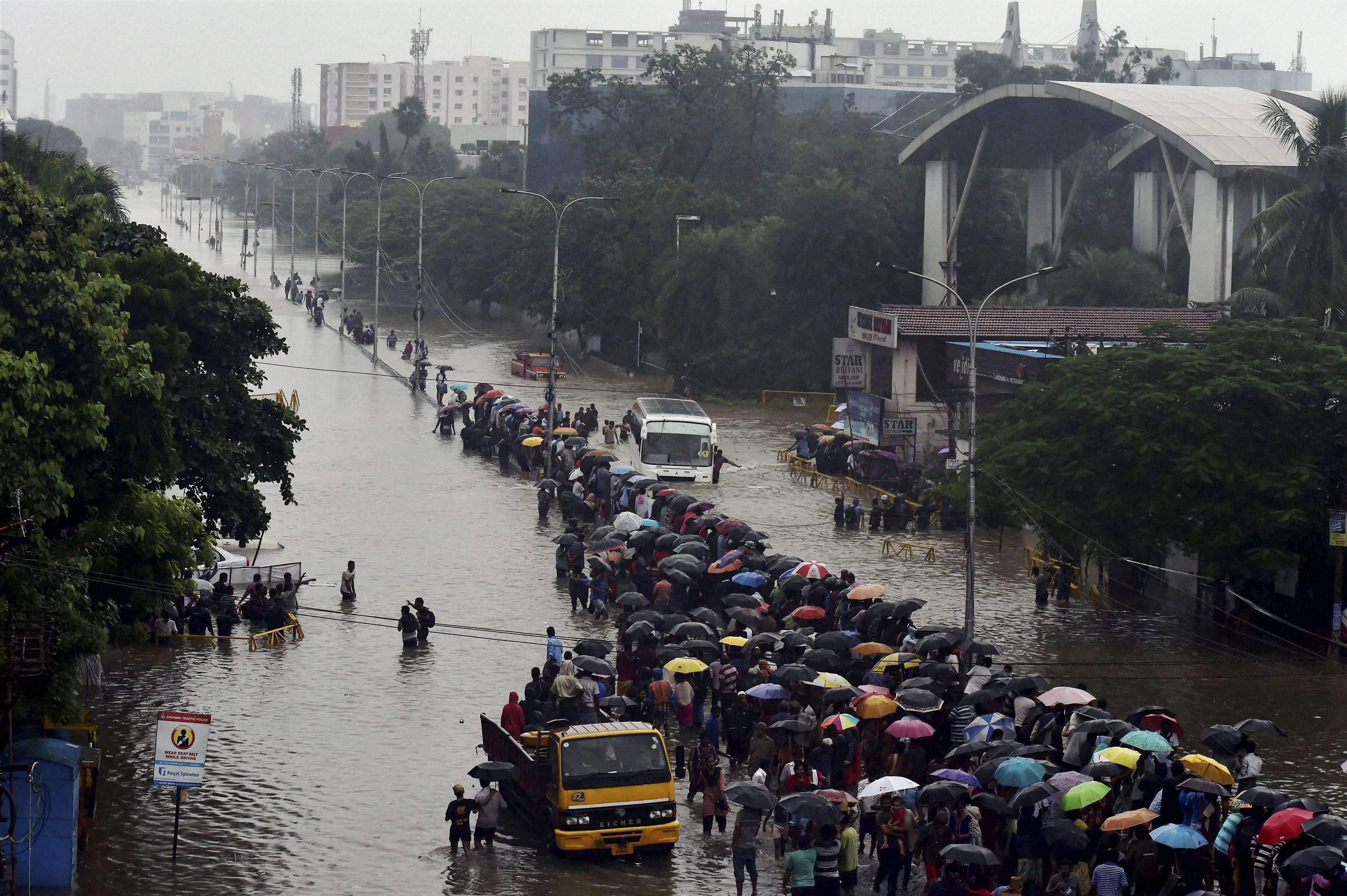 And then came the deluge: when roads turned into rivers following heavy rains in Chennai