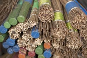 Broom handles. Credit: Meena Kadri