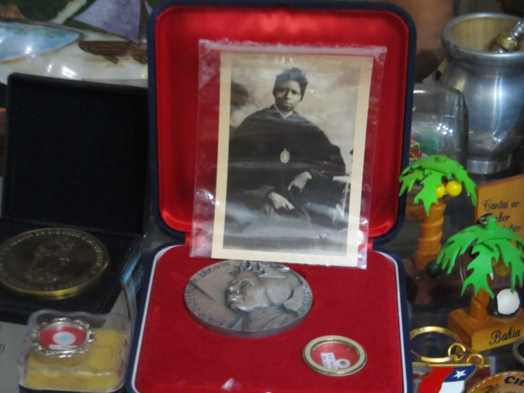 A photo of Saint Josephine Bakhita, who was canonise as a saint in 2000 after a miracle attributed to her happened in Santos, in Father Caetano's cupboard. Photo: Shobhan Saxena