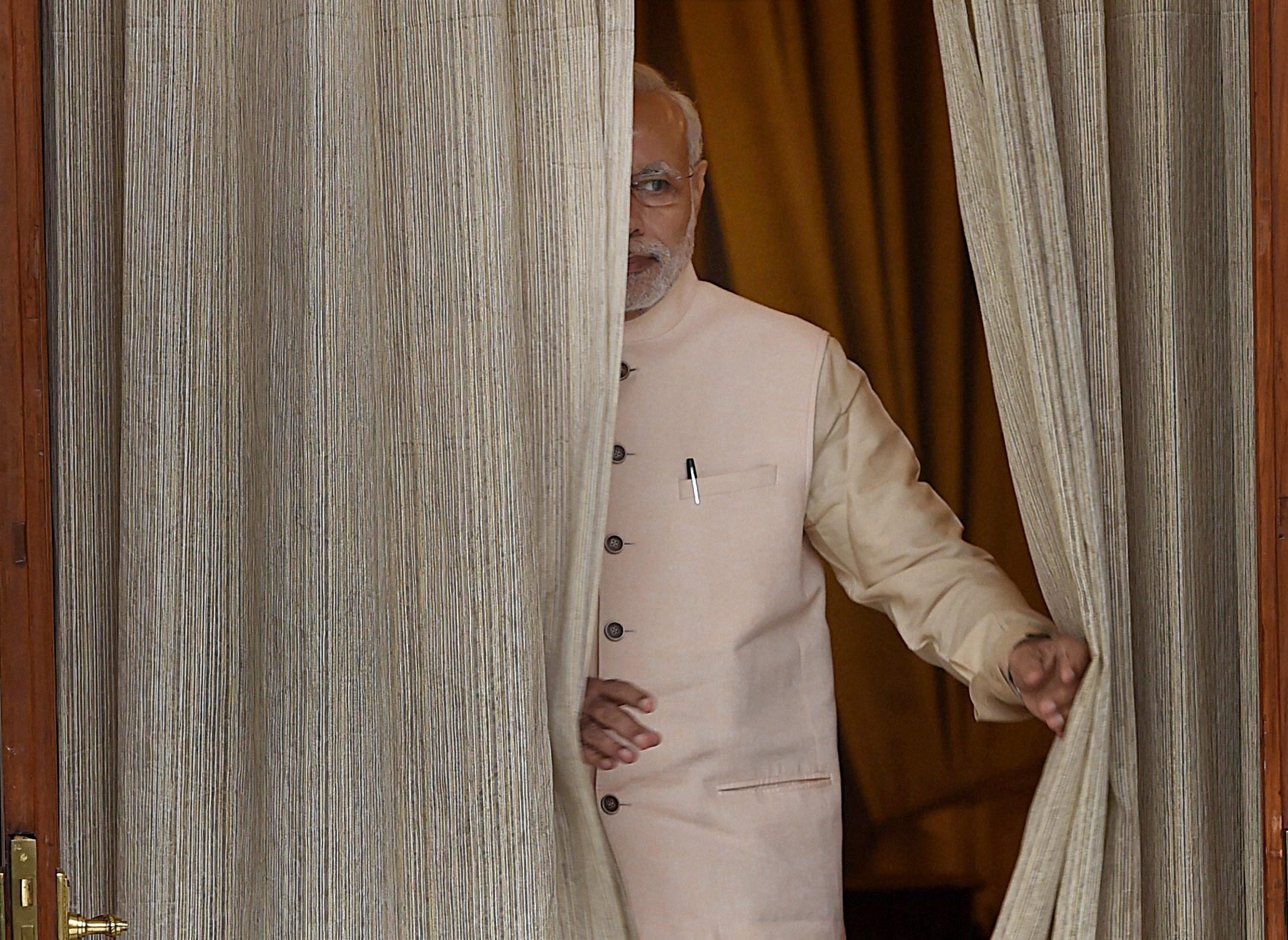 Prime Minister Narendra Modi at Hyderabad House. Credit: PTI photo by Shahbaz Khan