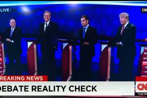US Republican debate. Credit: CNN screengrab