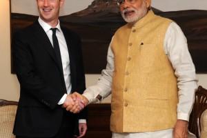 Facebook CEO Mark Zuckerberg and India's Prime Minister Narendra Modi. Credit: Wikimedia Commons