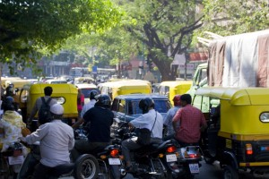 A traffic jam in Bengaluru, 2008. Credit: eirikref/Flickr, CC BY 2.0