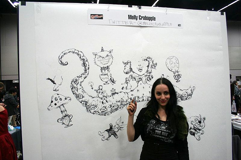 File picture of the artist-journalist Molly Crabapple. Flickr cc
