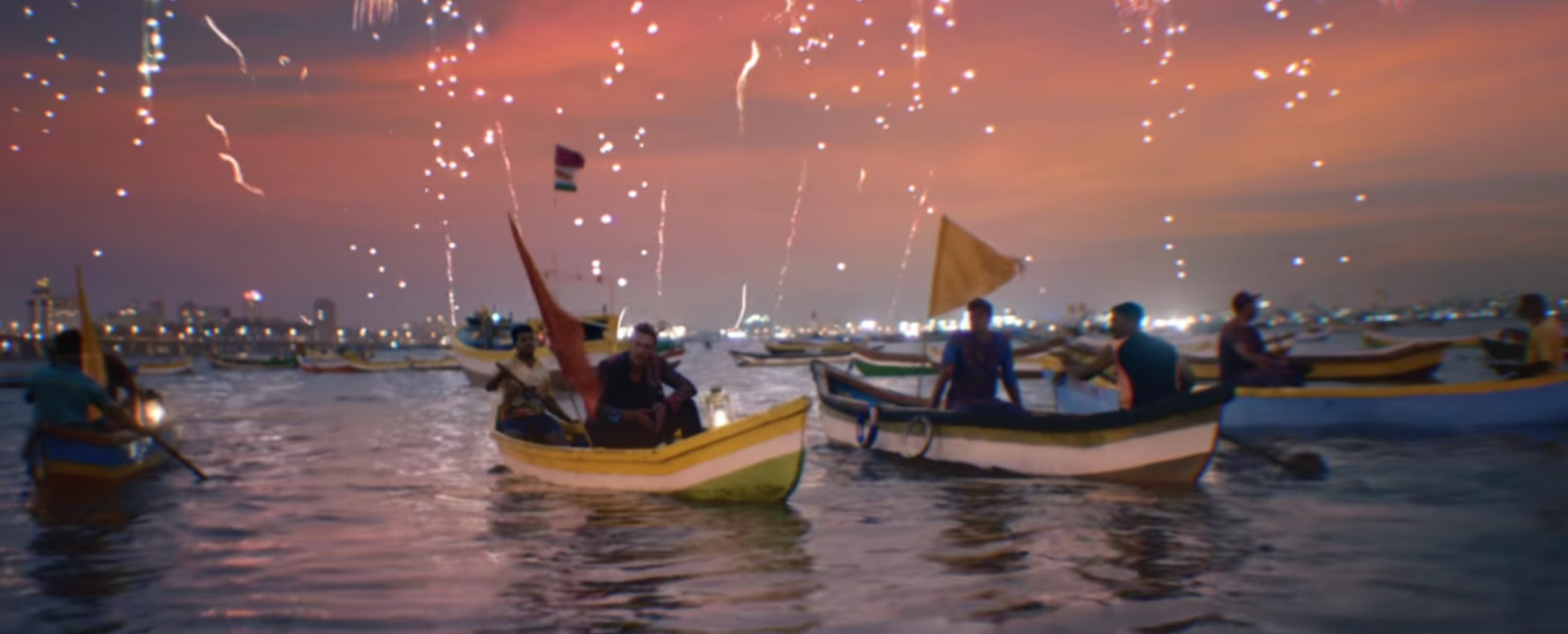A shot from the music video for 'Hymn for the Weekend', Coldplay's single out January 2016. Source: YouTube