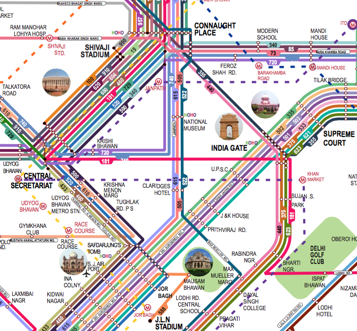 Delhi Bus Route Map This Map of Delhi Could Help You Get Lost the Only Way You're  Delhi Bus Route Map