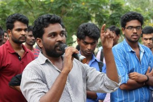 File photo of V Rohith, who was found hanging in a hostel room in the University of Hyderabad.