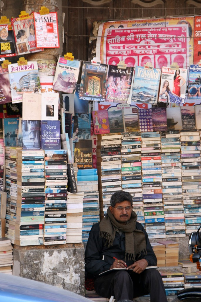 Delhi bookseller. Credit: Kirk Siang/Flickr CC BY-NC-ND 2.0