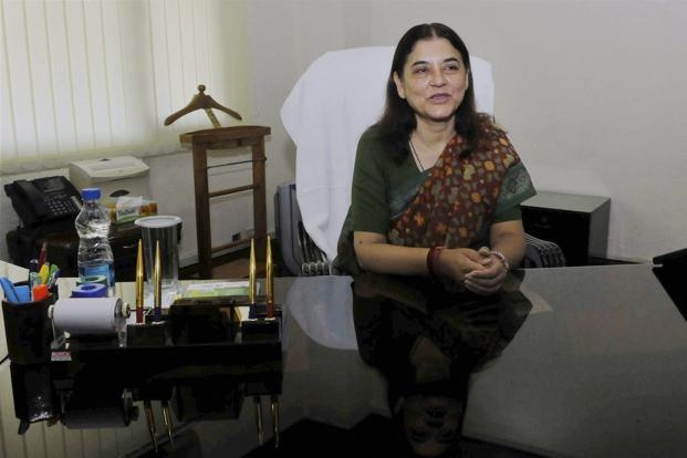 File photo of Maneka Gandhi. Credit: PTI