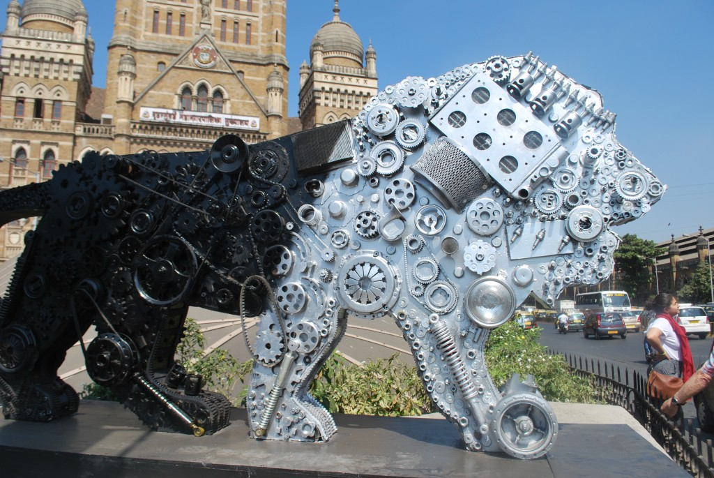 The Make in India Lion Roams the Streets of Mumbai