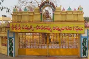 Entry gates to Sammakka and Sarakka alters. Credit: Aravind Devunuru