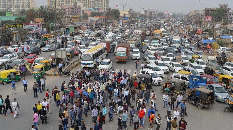 VIolent protests by the Jat community have broke out across North India. Credit: PTI