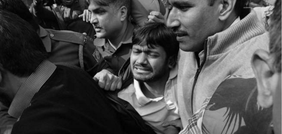 Kanhaiya Kumar was attacked while being brought to court. Credit: NDTV