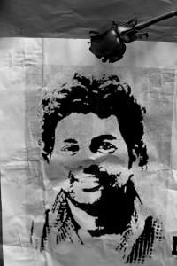 A portrait of Rohith Vemula. Credit: Shome Basu