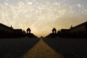 The road to Raisina Hill. Credit: Shome Basu