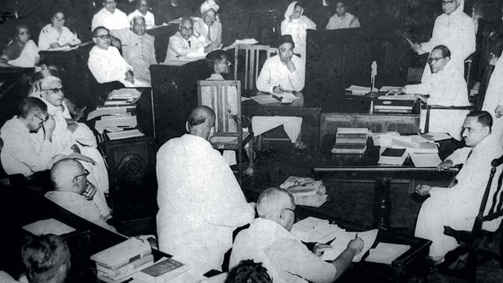 A view of the constituent assembly during one of its debates. Credit: Wikimedia Commons