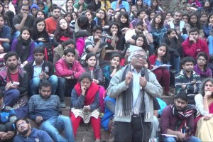 Gopal Guru at JNU