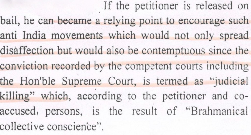 From the status report on the Kanhaiya Kumar case submitted by the Delhi police to the high court.