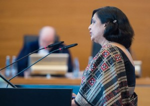 Neeru Chadha, former additional secretary and legal advisor, ministry of external affairs, and 'agent' of India in the Enrica Lexie case. Credit: Daniel Bockwoldt/ITLOS