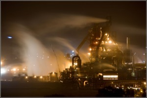 Tata Corus steel plant at Port Talbot in the United Kingdom. Credit: Ben Salter/Flickr CC 2.0
