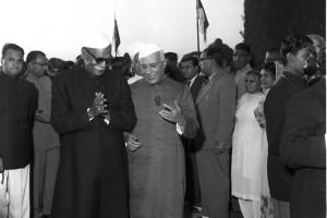 Rajendra Prasad and Jawaharlal Nehru in 1958. Credit: Photo Division, GOI