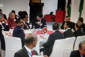 "Clever seating by SAARC's Nepali hosts ensured the foreign secretaries of India and Pakistan sat at the same high table but far enough to ensure there was no ""dialogue"". Credit: Special Arrangement"