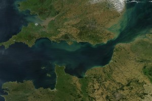 The English Channel as seen from a satellite. Credit: Wikimedia Commons