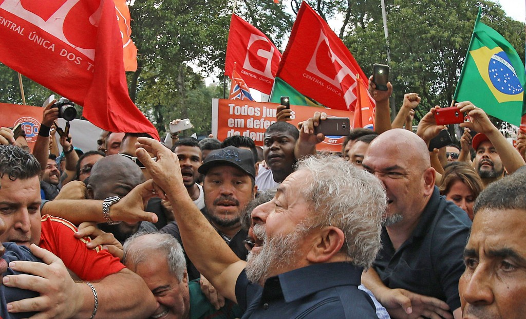 CUT, the biggest trade union in Brazil, organised a massive show of strength in an indication that the Brazilian politics will now move to streets. Credit: Ricardo Stuckert