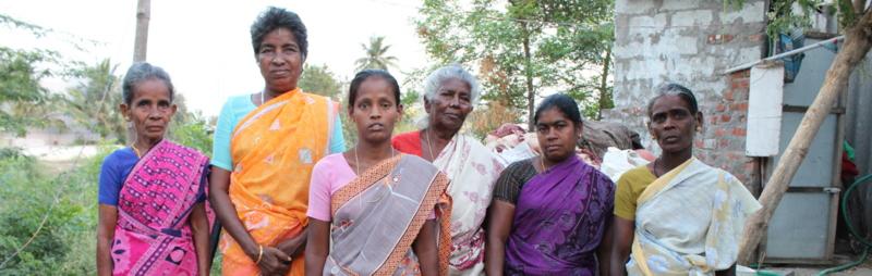 The widows of Kumaran Nagar: Twenty-one women have been widowed due to alcoholism out of the 250 families in the slum. Credit: Sandhya Ravishankar