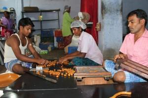 Employees at Chiki's World making sweets. Credit: Sandhya Ravishankar