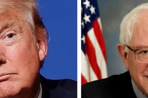 Donald Trump and Bernie Sanders. Credit: Wikimedia Commons