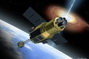 An artist's conception of Hitomi in space. Source: JAXA