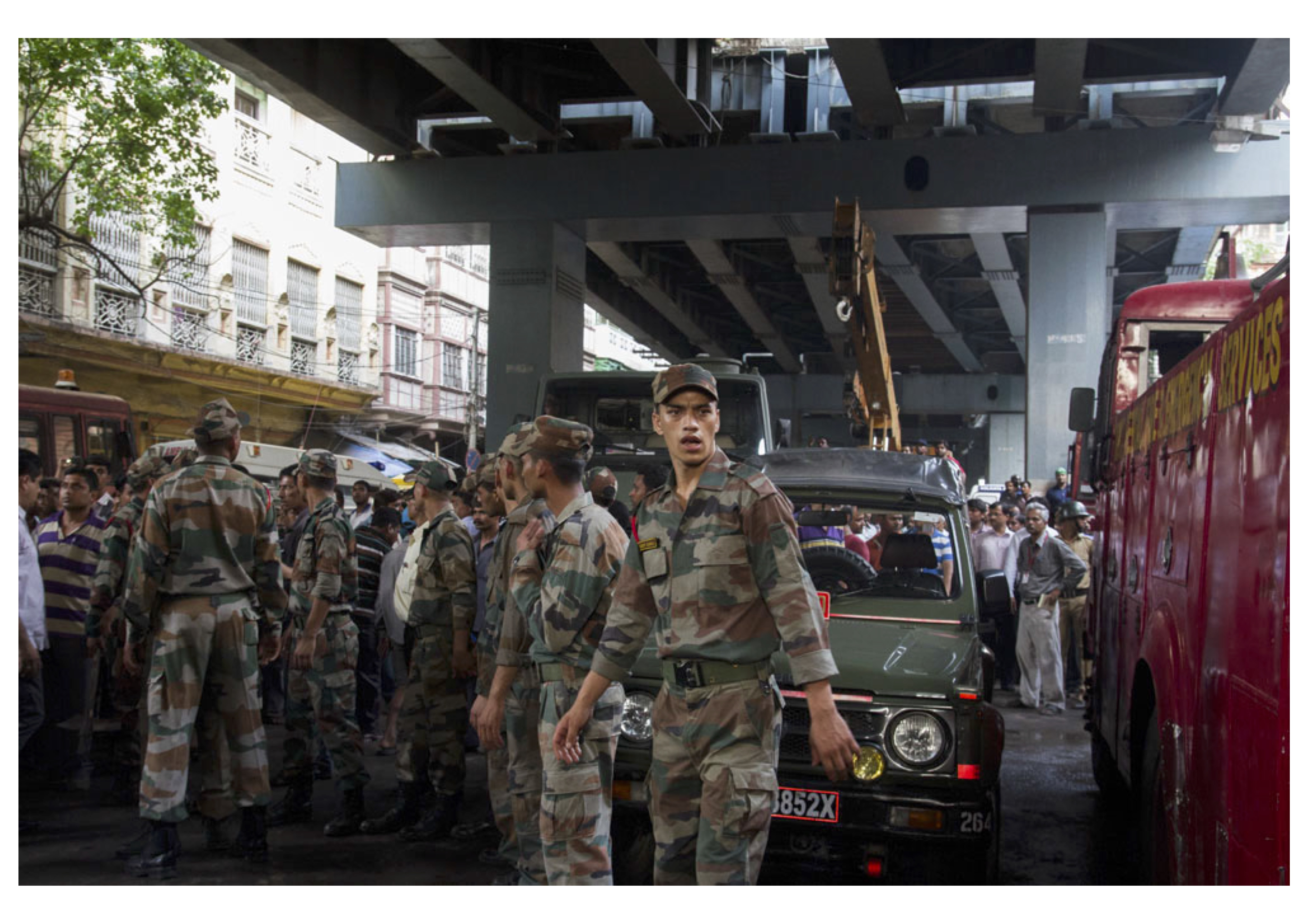 Owing to the immense magnitude of the disaster, eventually the army was called in to assist the rescue operations.