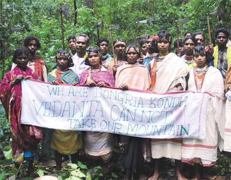 Locals are strongly opposed to Vedanta's mining plans. Credit: Saroj Mishra/Down To Earth