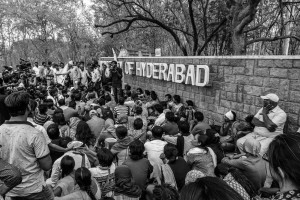 About 100 students gathered at the university's main gates, which were closed for outsiders. When some of the students and staff were not allowed to enter, the crowd began to shout protests. The police was called in, and at least 50 students were detained.