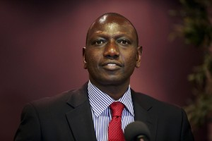 Deputy Kenyan President William Ruto addresses the media at a news conference at the Movenpick Hotel in the Hague, October 15, 2013. Credit: Reuters/Phil Nijhuis