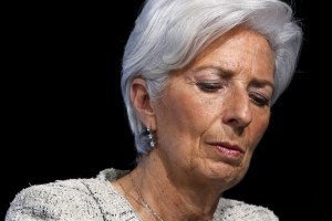 International Monetary Fund (IMF) Managing Director Christine Lagarde participates in a news conference with European finance ministers at the IMF/World Bank Spring Meetings in Washington April 14, 2016. Credit: Reuters/Jonathan Ernst.