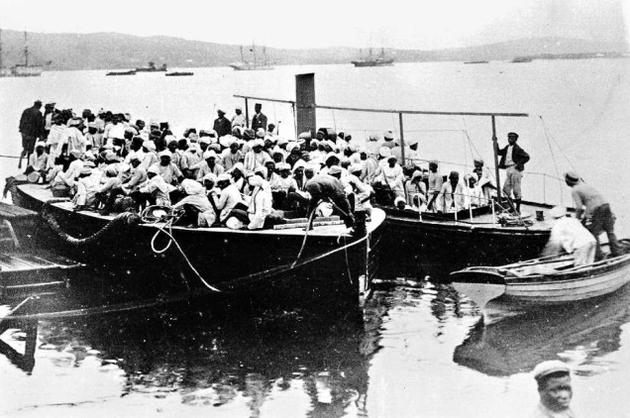 Arrival of the first Indians in Natal. Credit: Wikimedia Commons