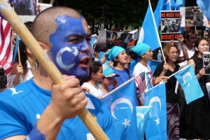 File photo of Uighurs protesting against China at the White House. Credit: Malcolm Brown/Flickr CC 2.0