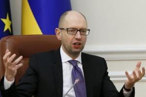 Ukraine's prime minister Arseny Yatseniuk chairs a government meeting in Kiev, Ukraine, March 25, 2016. REUTERS/Valentyn Ogirenko