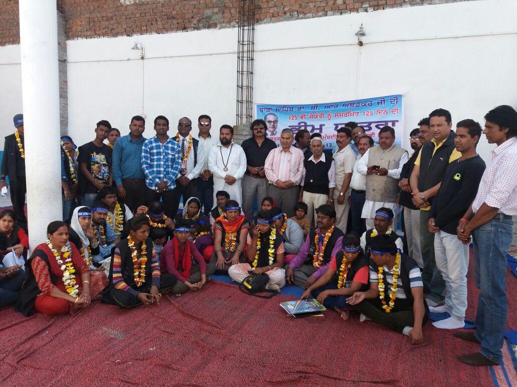 Bhim Yatra members in Amritsar. Credit: Sangeeta Barooah Pisharoty