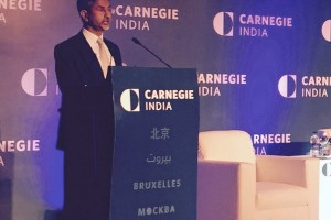 Foreign secretary S. Jaishankar at the launch of Carnegie India. Credit: MEA