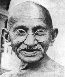 Gandhi places the idea of a satyagrahi against all sovereign power. Credit: Wikimedia Commons
